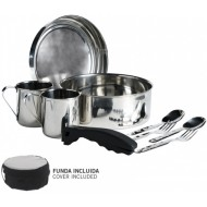 2 Persons Cooking Set + Cover Laken