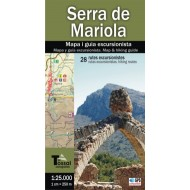 Serra de Mariola: Mapa i guia excursionista of El Tossal Cartografies
