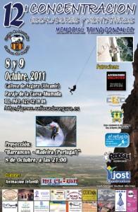 Cartel de la 12ª concentración de escaladores y montañeros de la Vega Baja